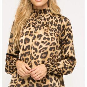 ONLY 1! Silk Leopard Print Long Sleeve by Mystree